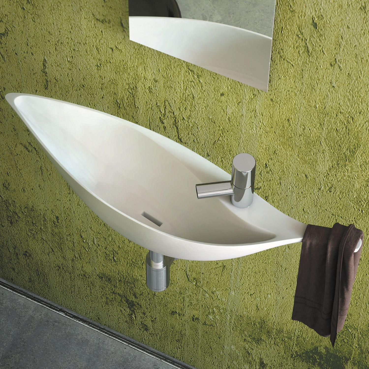 Wall Mounted Hand Basin Colibri Decotec Solid Surface Home