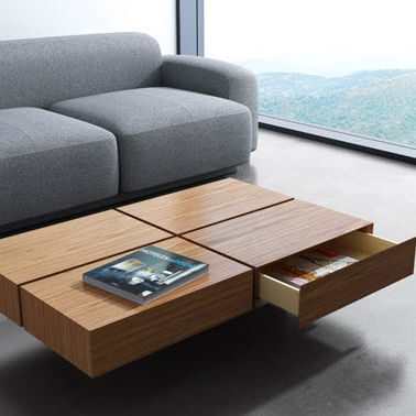 contemporary coffee table cube