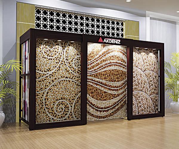 carpet display rack 201 aydinlatmali