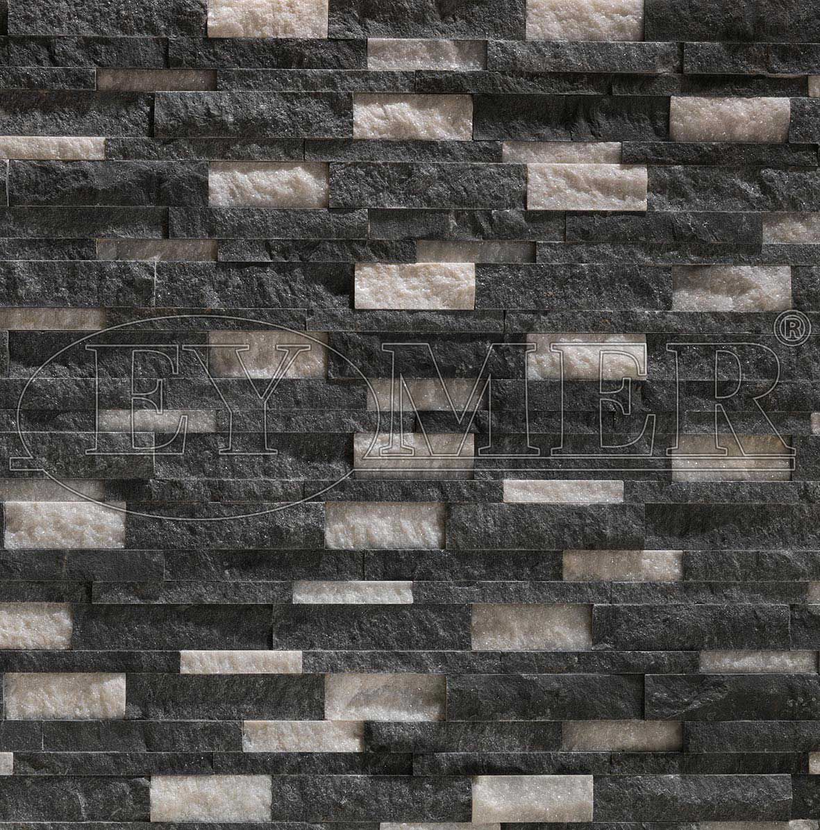 Marble Wall Cladding Outdoor Indoor Stone Look Black