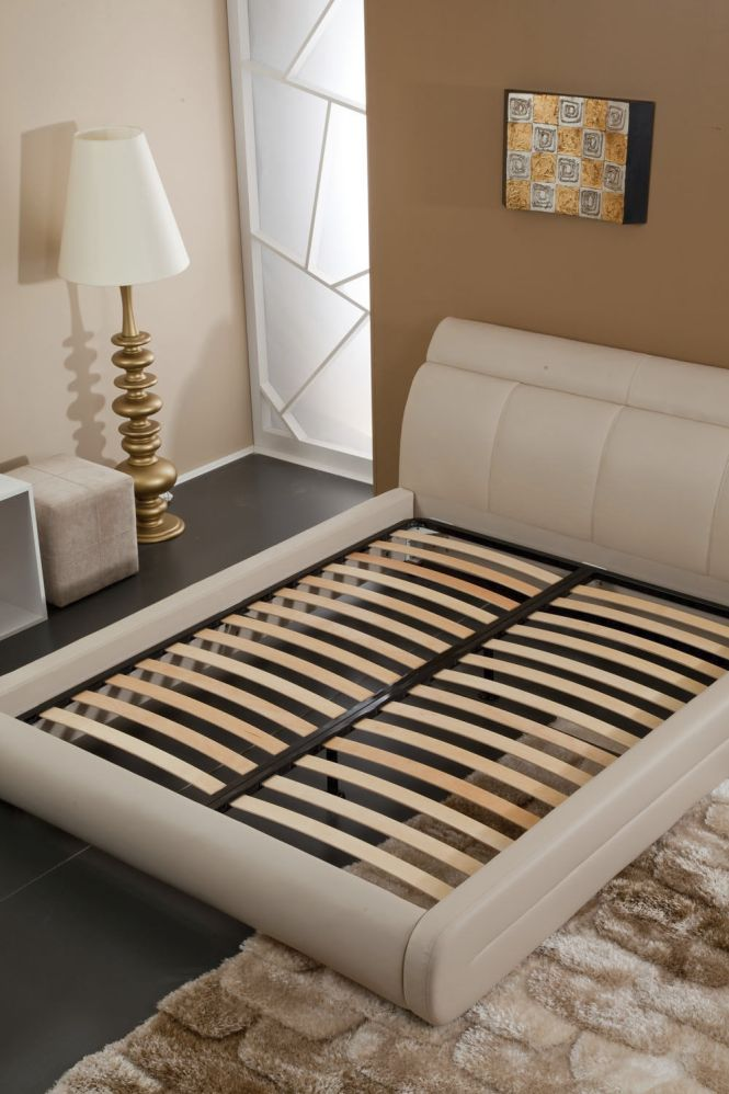 Double Mattress Support Slatted Manual Bedstead Frame Isbir