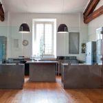 Contemporary Kitchen Stainless Steel Iron Laminate
