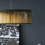Pendant Lamp Crown Venicem Contemporary Bronze Blown Glass