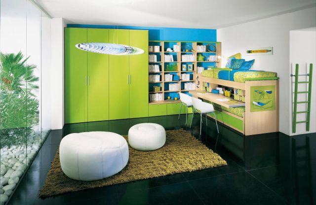 Uni children s bedroom furniture set green GALILEO