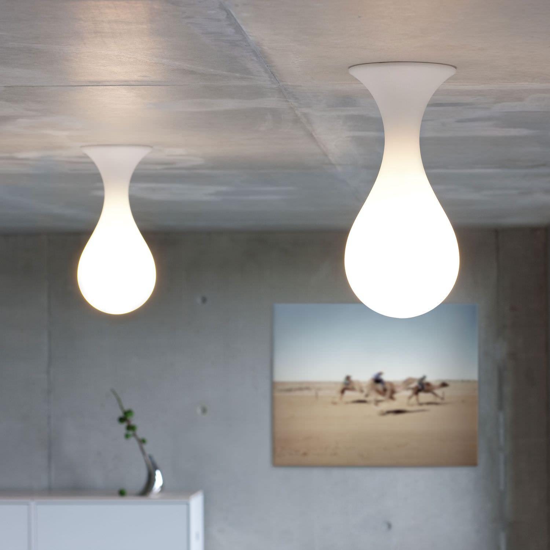 Original Design Ceiling Light Liquid Light Drop 1 Small Next Polyethylene Halogen White