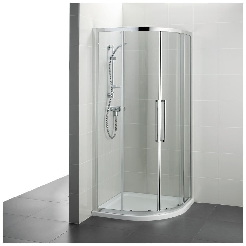 Swing Shower Screen Corner Curved Glass T7350
