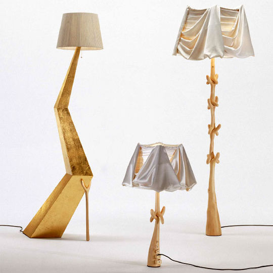 floor standing lamp traditional wooden bracelli by salvador dali
