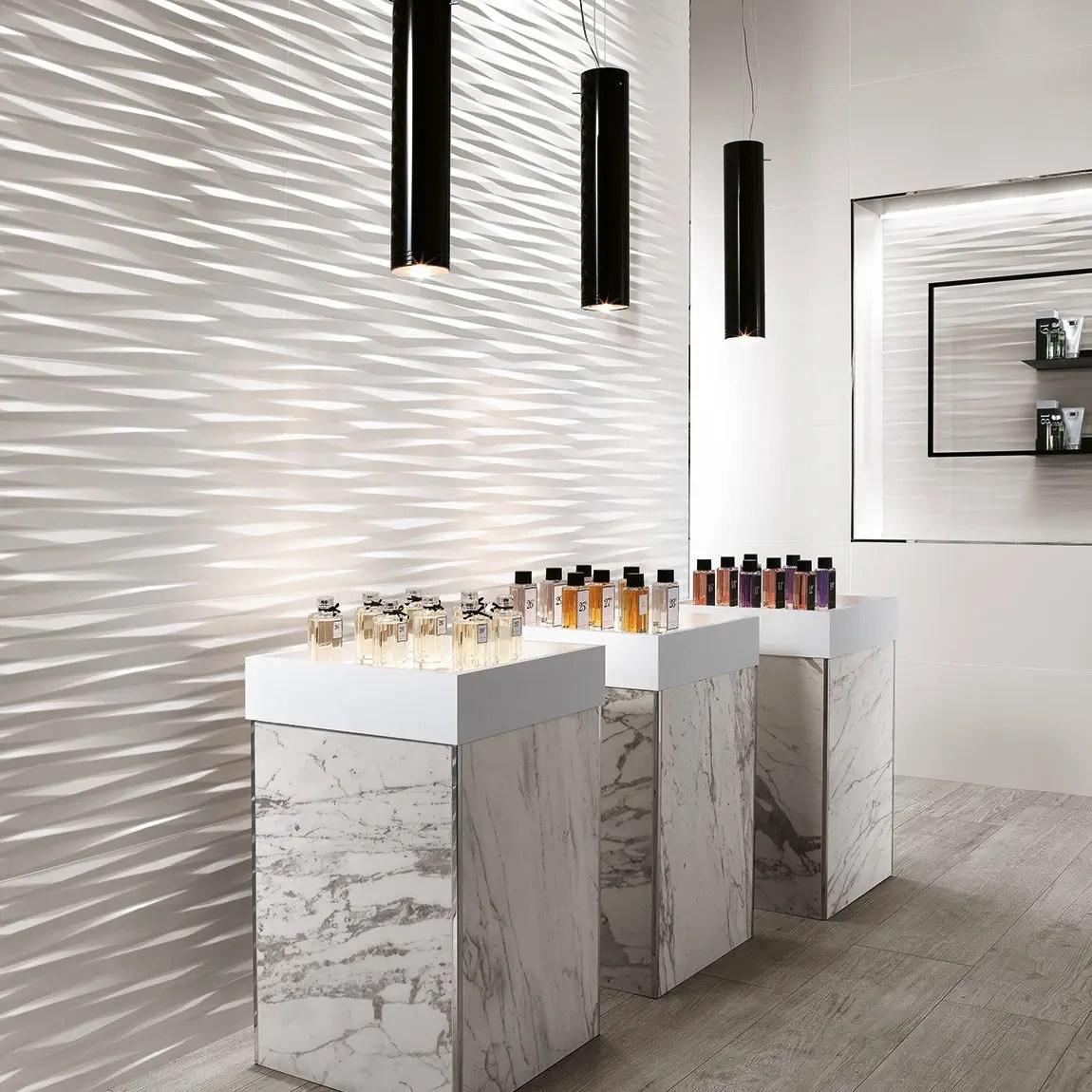 indoor tile 3d wall design blade