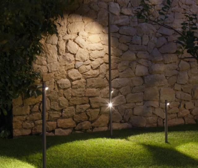 Garden Bollard Light Contemporary Methacrylate Resin Bamboo By A Arola E Rodriguez