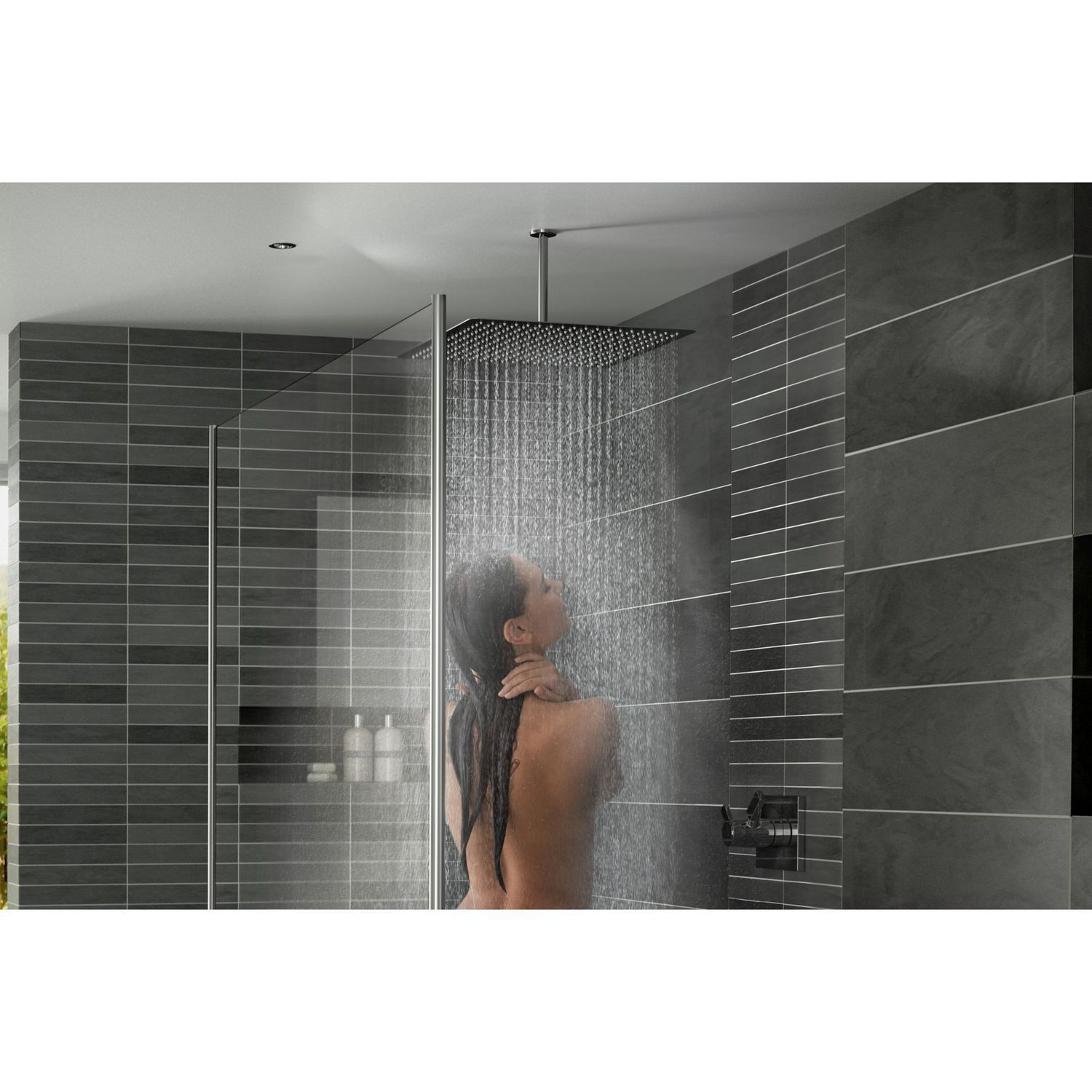 Ceiling Mounted Shower Head Square Rain Tetra 450