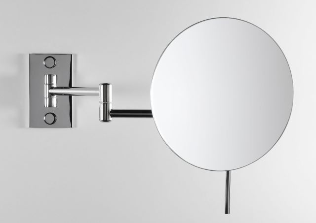 Wall mounted mirror contemporary round magnifying ASTER BD
