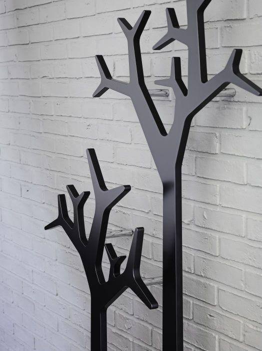 wall mounted coat rack tree swedese