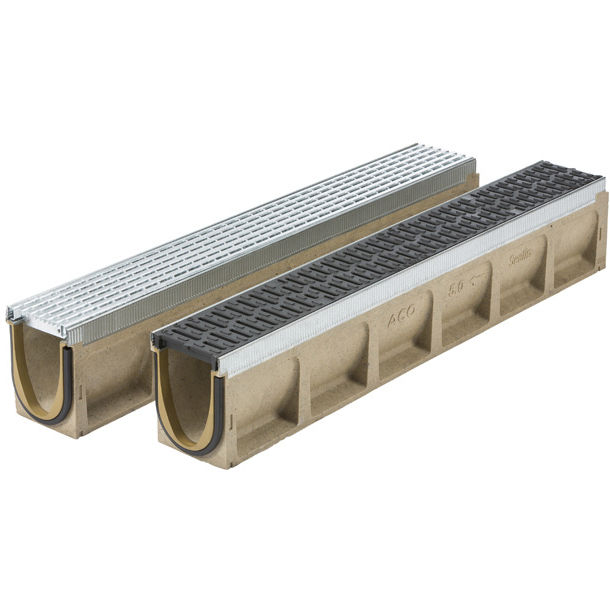 Drainage Channel With Grating Multiline Sealin Aco Metal For Public Spaces