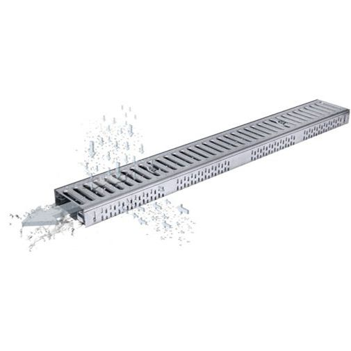 Drainage Channel With Grating Freedeck Aco Stainless Steel Roof Flat