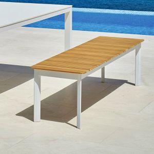 Garden Bench Contemporary Teak Aluminum System By Lo