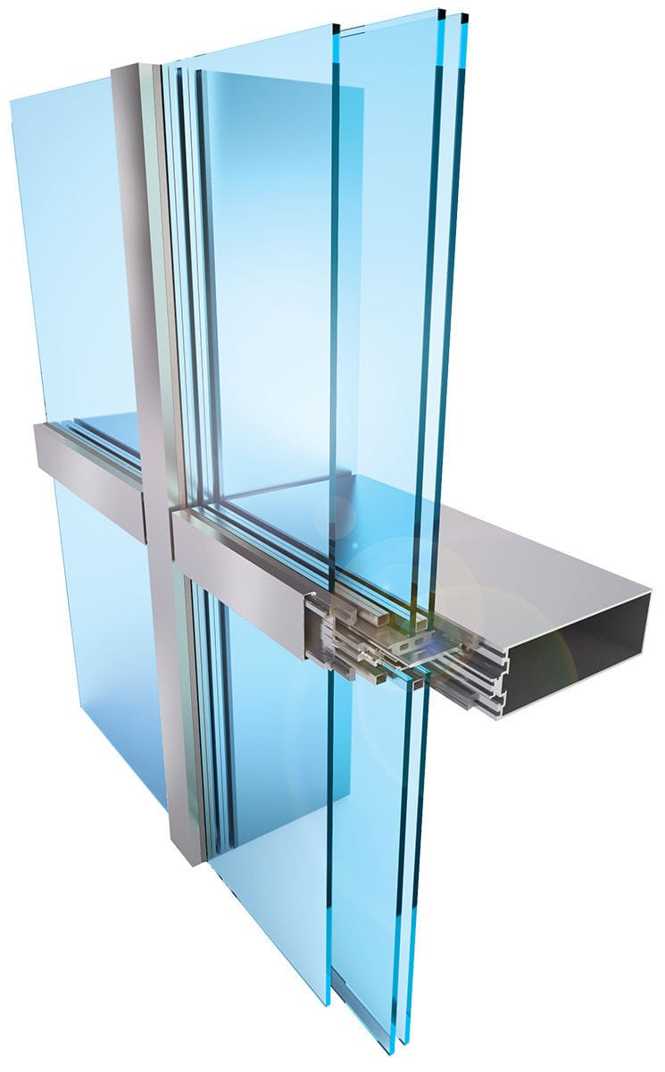 Glazed curtain wall system integralbook