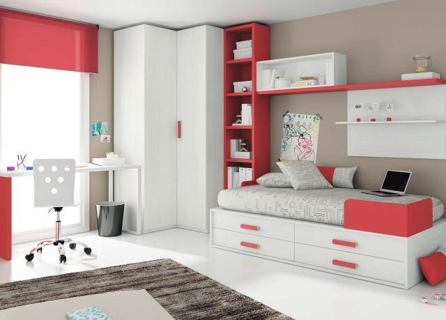 Uni children s bedroom furniture set white TOUCH 30 ROS 1