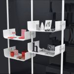 Modular Bookcase Contemporary Wooden Fluo Black And