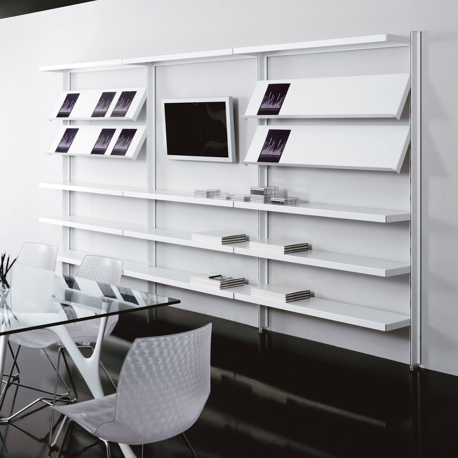 Wall Mounted Bookcase Contemporary For Offices