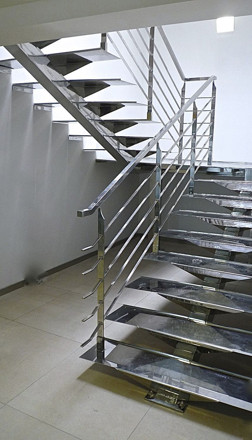 half turn staircase stainless steel frame stainless steel steps without risers