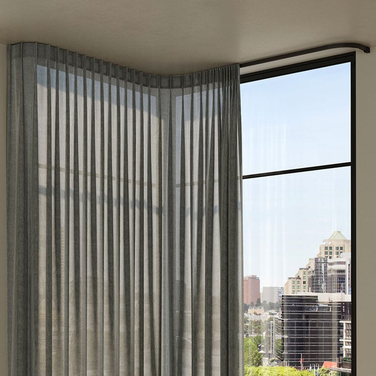 ceiling mounted curtain track slalom