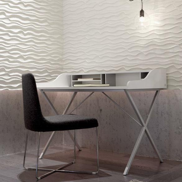 walnut desk mdf steel contemporary ursuline