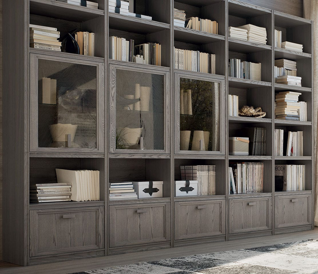 Contemporary Bookcase Elm Ir1853 Maronese