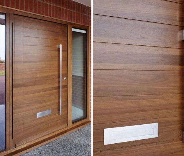 Entry Door Pivoting Solid Wood Security