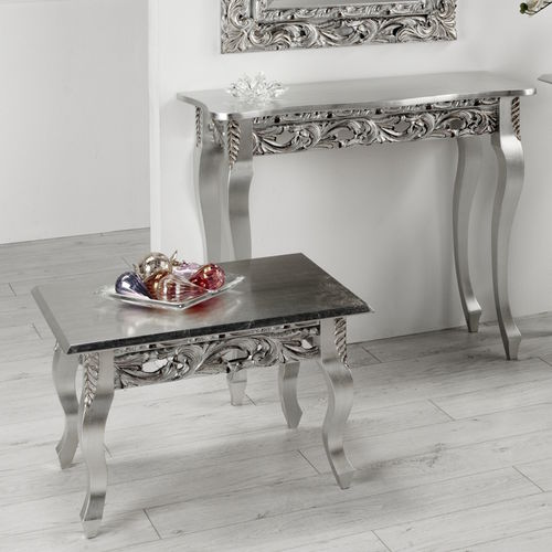 new baroque design coffee table dc 2501 c t f srl metal rectangular silver