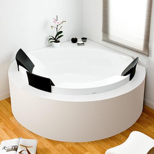 Free-standing bathtub / angle / acrylic / double AVIVA: 6619 by Artefakt HOESCH Design