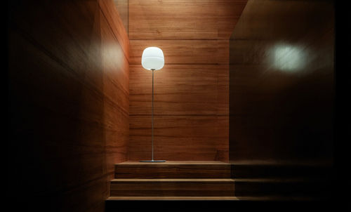 Floor-standing lamp / contemporary / glass / blown glass AFRA by Enrico Franzolini Karboxx