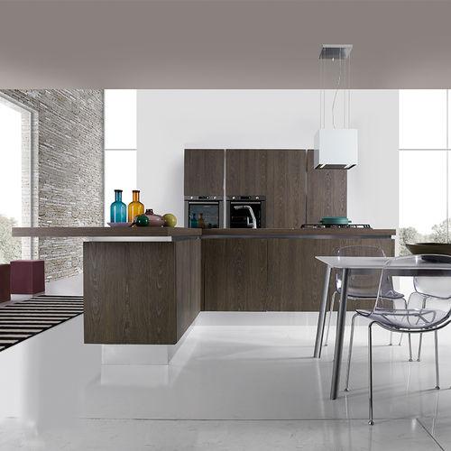 Contemporary kitchen / laminate / wooden / island BELLA Aran