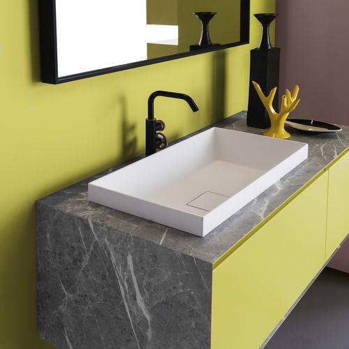 semi recessed washbasin paola