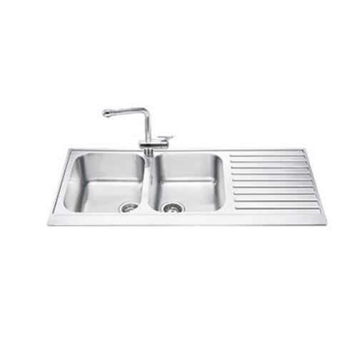 double kitchen sink lpd116d smeg