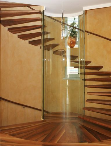 Circular staircase / wooden steps / overhead / without risers EUROPA Siller Stairs
