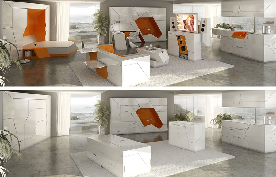 bedroom in a box' is the ultimate compact furniture suite - latvia
