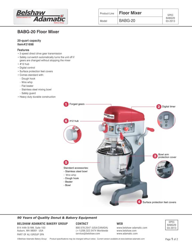 Belshaw Adamatic Mixer Babg  Pages