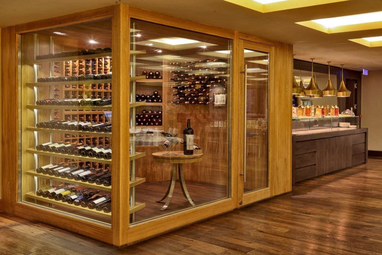 focus wine cellars einbau glas holz
