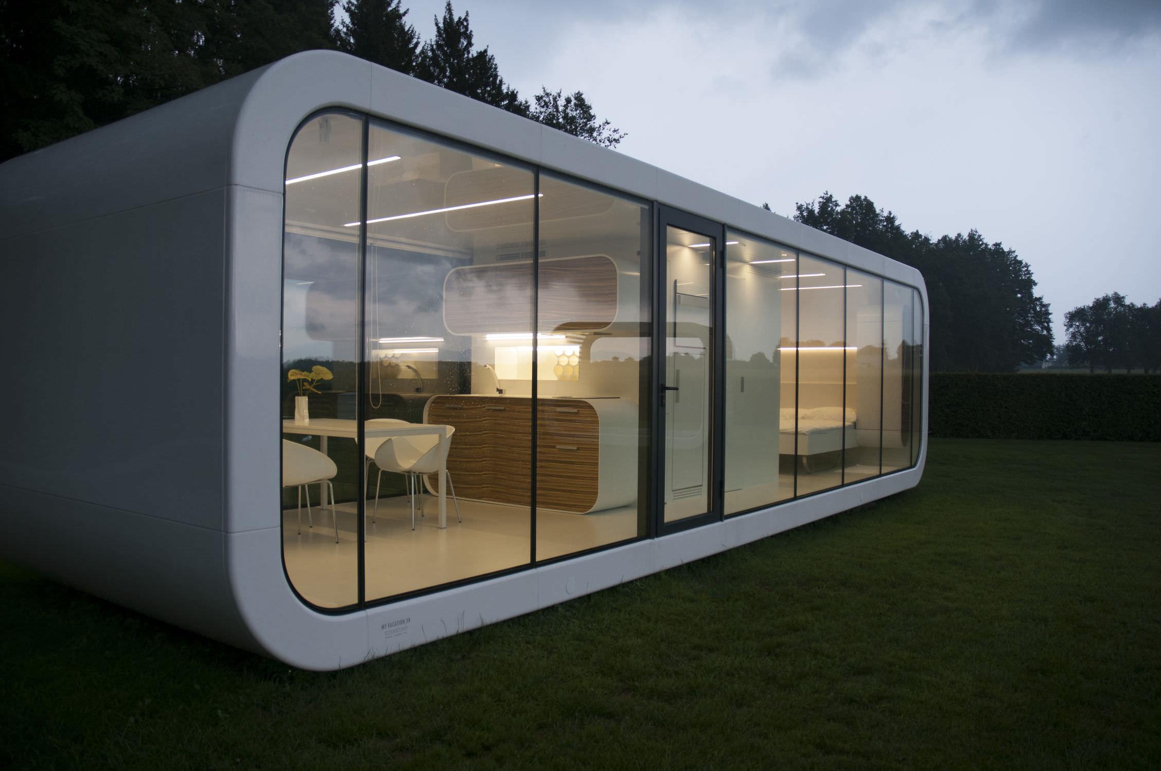 micro maison prefabriquee modulaire contemporaine ecologique