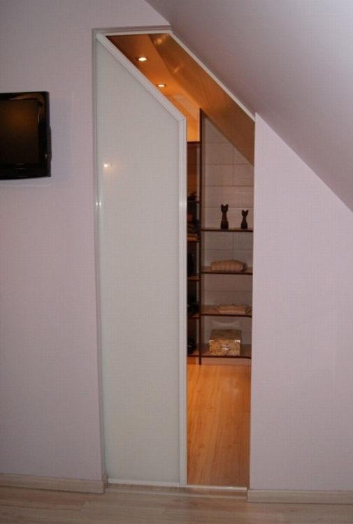 Porte D Interieur Sous Pente Ed System En Bois En Verre En Melamine