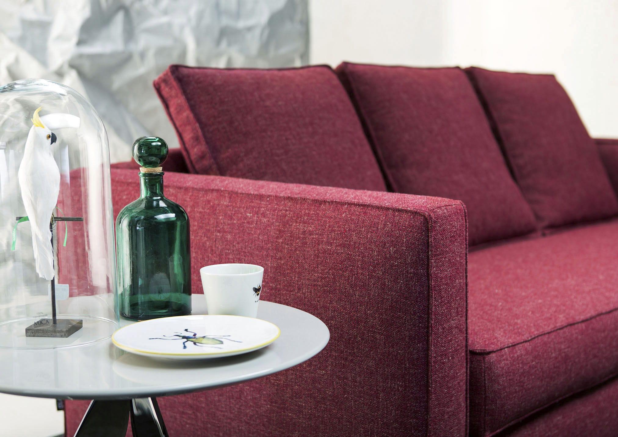canape lit contemporain en cuir en tissu