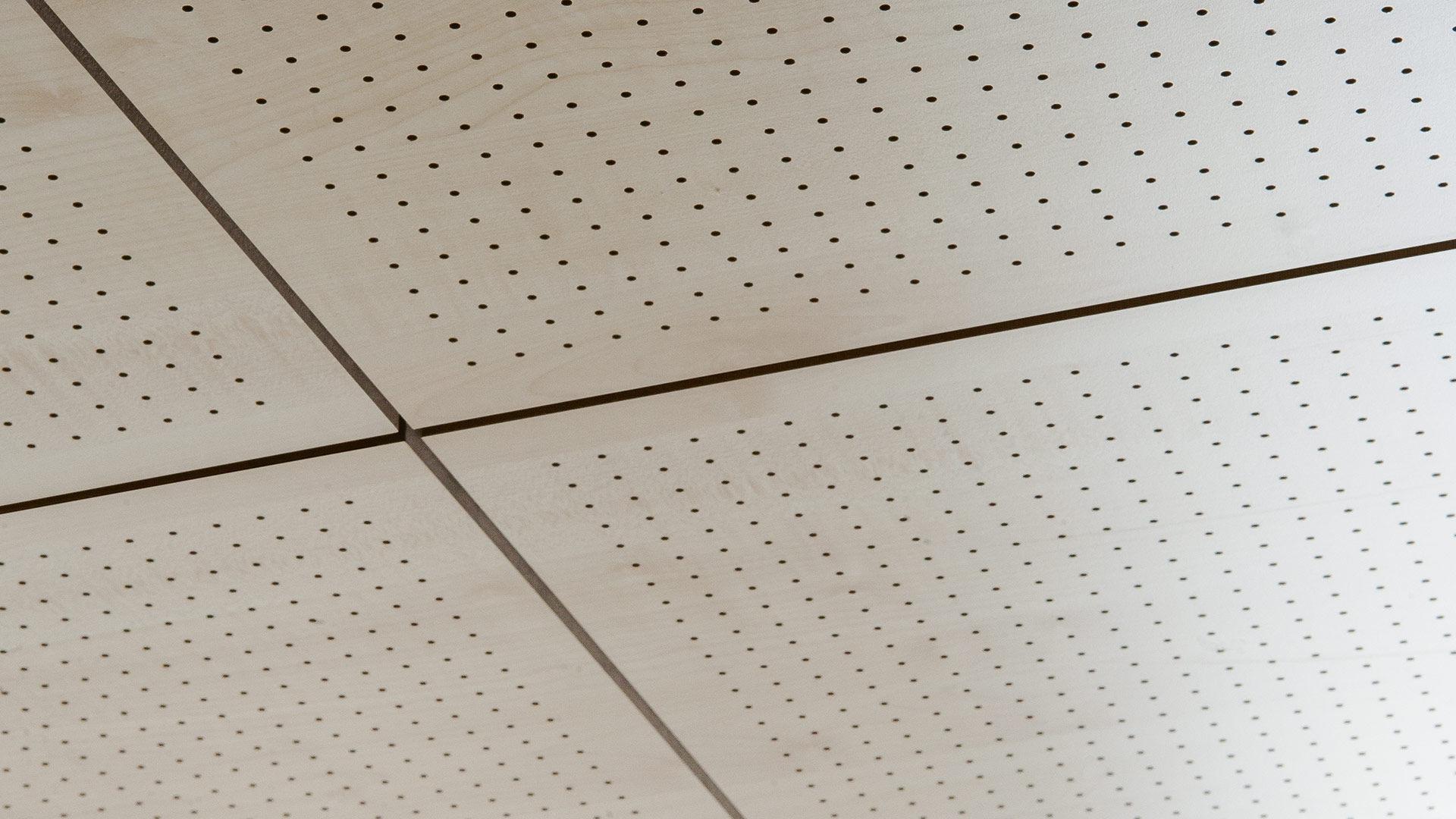 Faux Plafond En Bois Fantoni En Panneaux En Dalles Acoustique