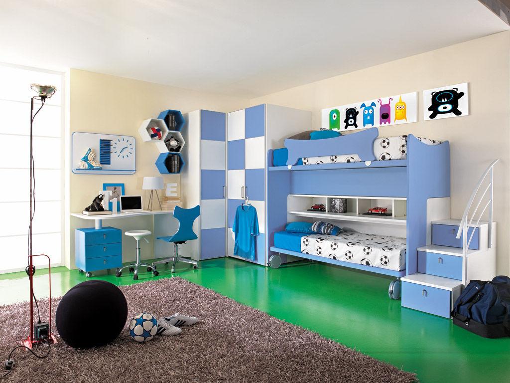 chambre d enfant bleue sport calcio 6 faer ambienti pour garcon
