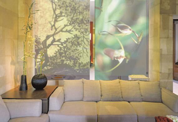 panneau japonais en tissu jungle life