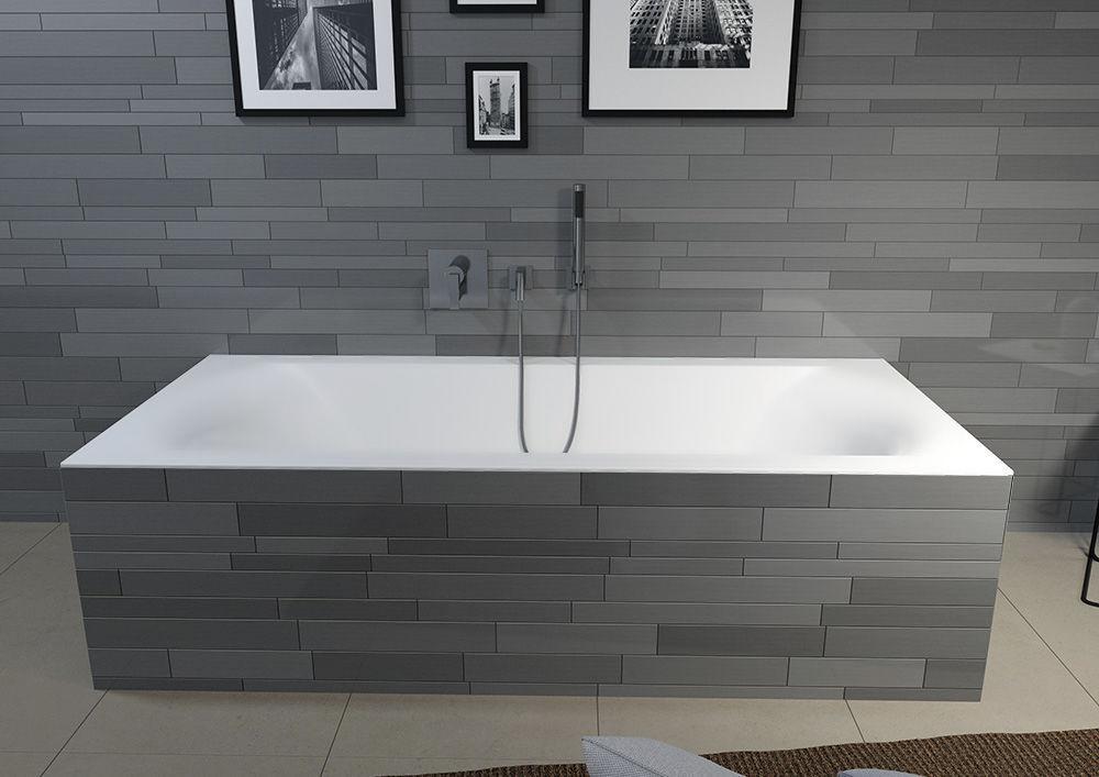 baignoire a encastrer en acrylique linares mat velvet white