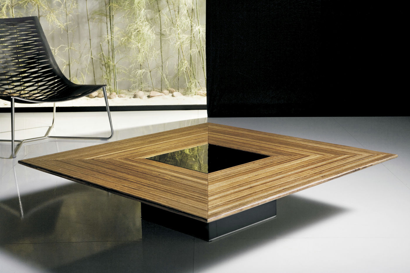 table basse contemporaine bois