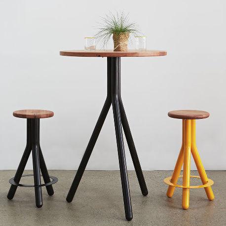 table mange debout contemporaine pipe
