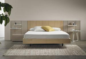 tete de lit avec eclairage integre