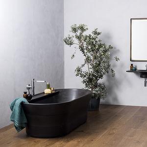 baignoire a poser ovale en pierre naturelle