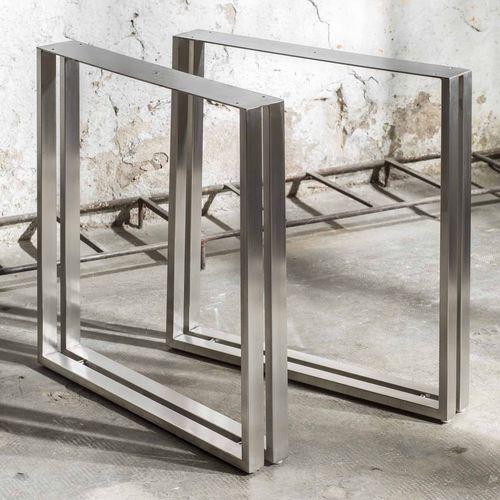 pied de table en acier inoxydable